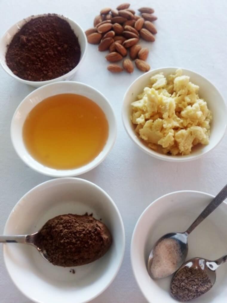 домашен шоколад с бадеми и годжи-бери - съставки за рецептата