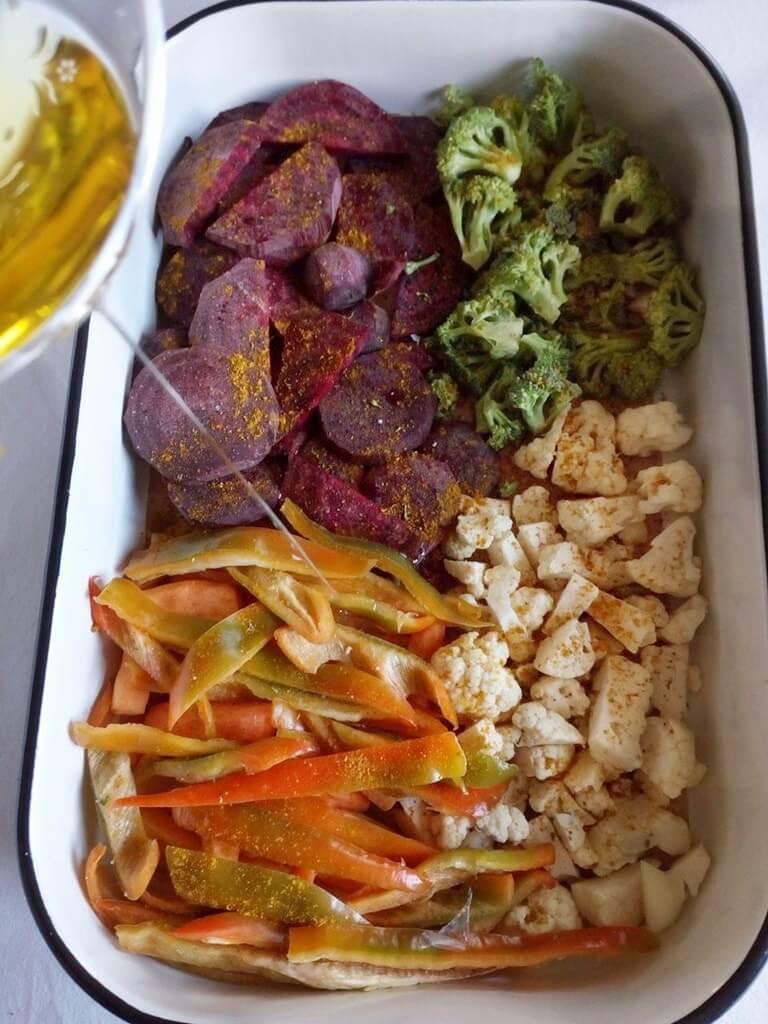 Продукти за приготвяне на Хрупкави запечени зеленчуци