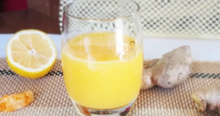 Портокалов коктейл с лимон, куркума и джинджифил 1
