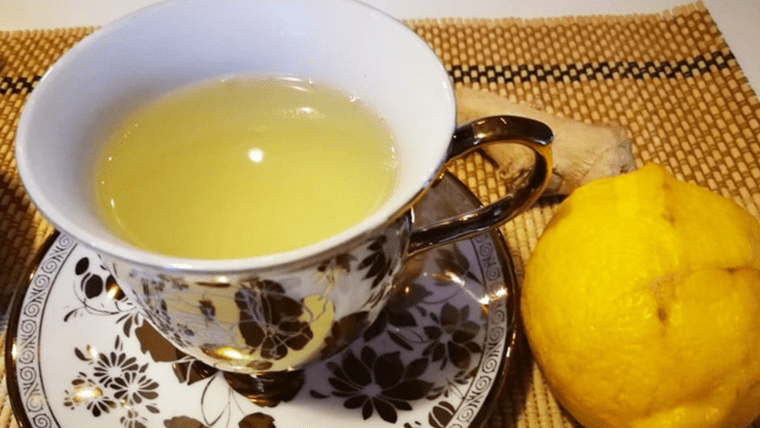 чай от джинджифил, лимон и липа