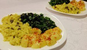 Read more about the article Спаначено къри с жълт ориз
