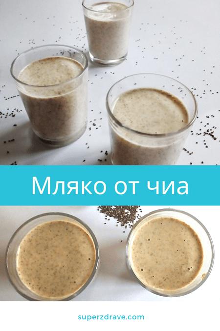 Мляко от чиа - финална снимка