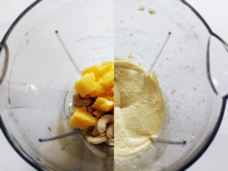 Направа на кремът от кашу и манго