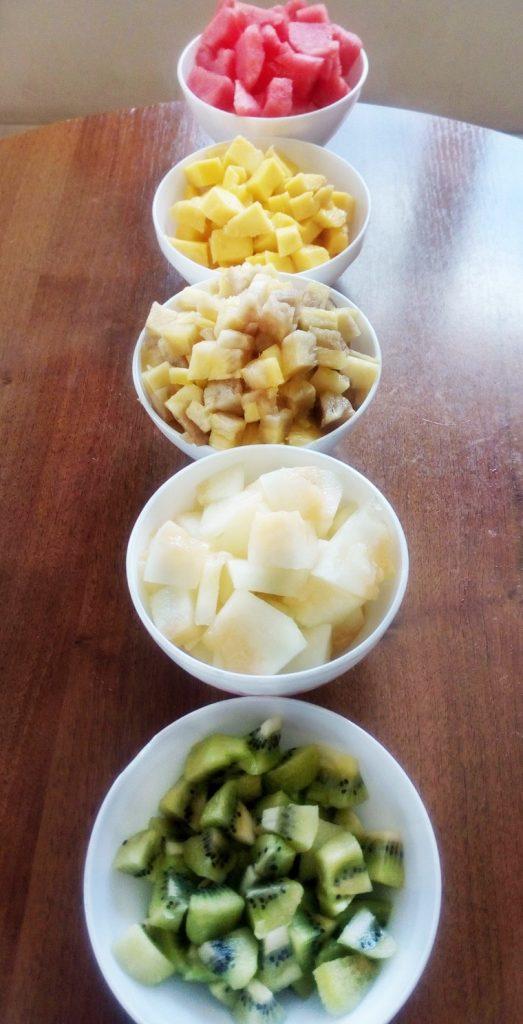 Плодова салата - съставки