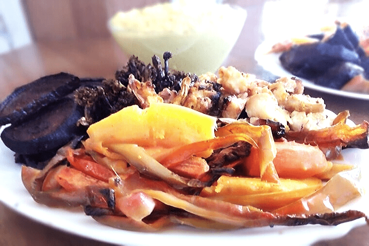 Хрупкави запечени зеленчуци