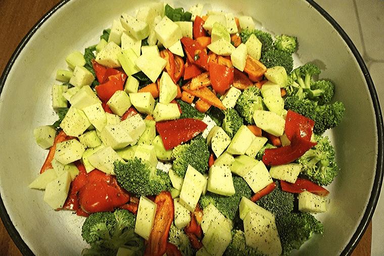 Спанак на фурна със зеленчуци 2