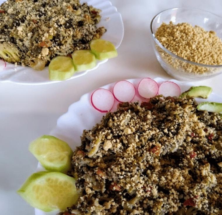 Запеканка с броколи и веган пармезан