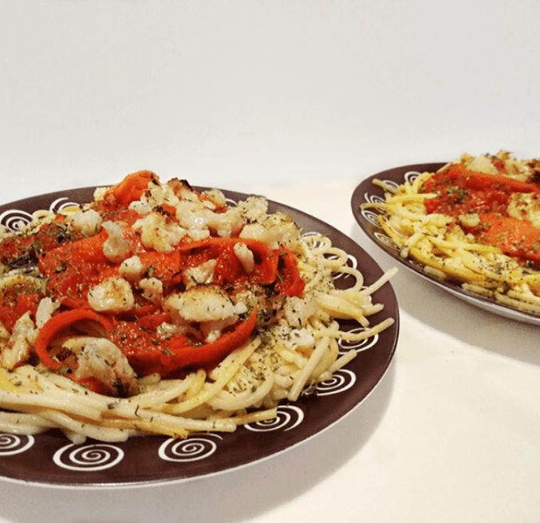 3-цветни спагети с хрупкав карфиол - здравословни рецепти