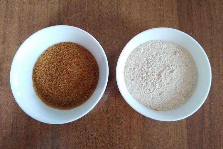 кафява захар: обикновена и смляна