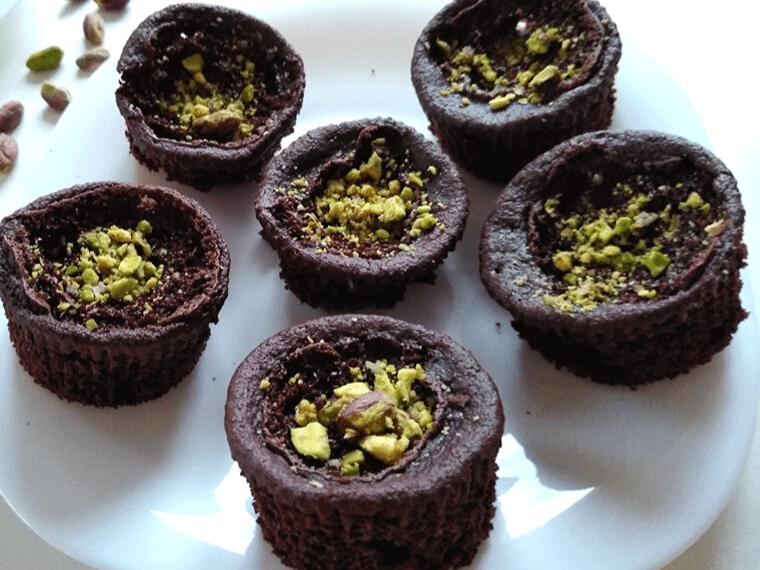 Веган шоколадови мъфини с овесено брашно - разпределени за почерпка