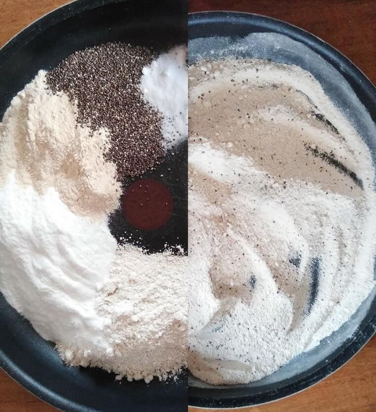 сухите съставки за палачинките