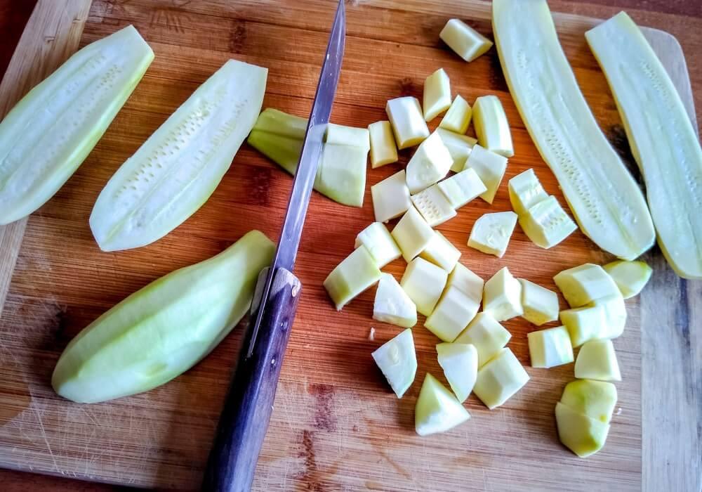 Ориз със зеленчуци - нарязани тиквички