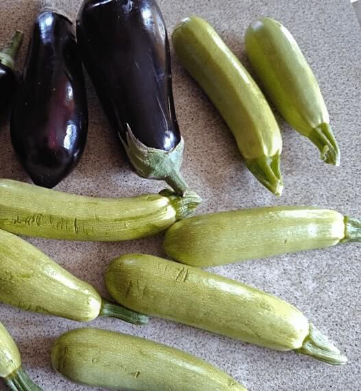 Ориз със зеленчуци - патладжани и тиквички