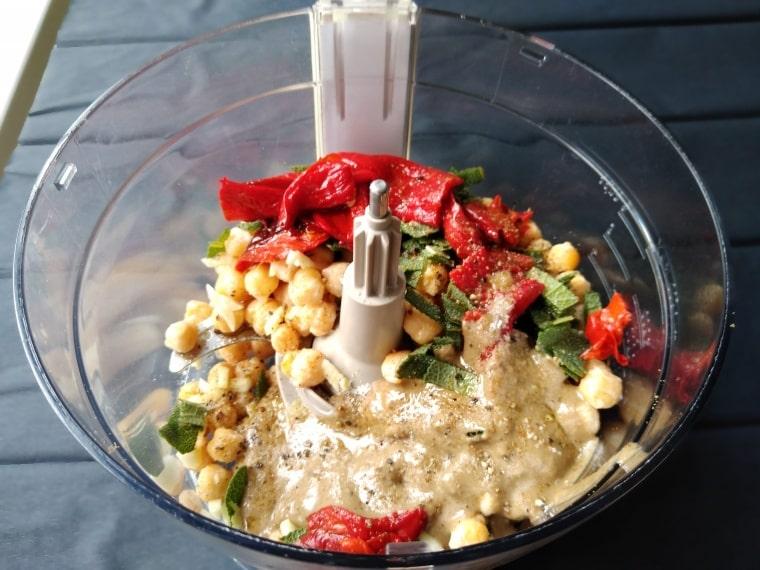 съставки за приготвяне на хумуса