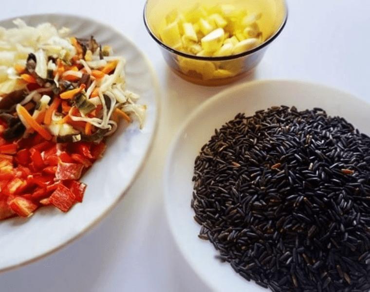 съставки за приготвяне на встие с черен ориз