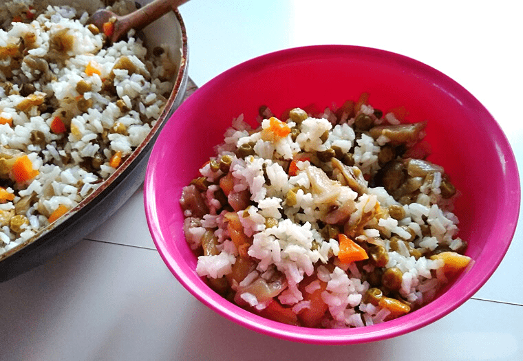 ароматен ориз със зеленчуци - финална снимка